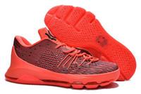 Wholesale Cheap Kd V Shoes - 2015 Hot Sale KD8 V-8 SHOES Wholesale KD 8 VIII Bright Crimson V8 Cheap Mens Basketball Shoes Men Sport Sneakers Kds size US 7 ~12