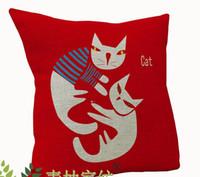 batman seat covers - Maneki Neko Superhero Cat linen cushion Pillow Cases batman superman cat seat sofa square covers Home Textiles x17 drop shipping EMS