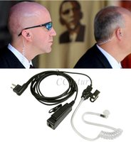 air surveillance - FBI Police Security Surveillance Air Tube Earpiece Headset for Motorola Walkie Talkie CP180 CP185 CP200 CP250 CP300 GP88S
