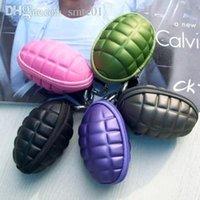 Wholesale non defrmation grenade style purse crush resistance unzerbrechlich unisex key wallets