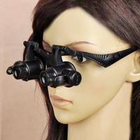 Reloj plegable Lupas Aumento De Reparación Gafas Gafas lupa de la lupa Lupa con luces LED 10X 15X 20X 25X Lupa