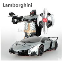 Wholesale RC Transformation electric Toys one key remote control car Bumblebee Optimus Prime Bugatti action figures class Boys Gifts