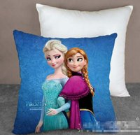 Wholesale 15PCS Froze Princess Elsa Anna Pillow Case CM Cartoon Cushion Cover Multipatterns Both Side Can Choose B3321