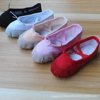 Wholesale Girl dancing shoes Canvas comfortable breathe freely antiskid wear resistant ballet shoe kids Footwear Dance Shoes Adult dancing shoes