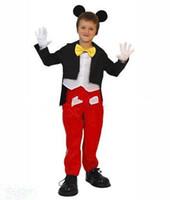 Brand New Mickey Mouse traje de la mascota, los niños Tamaño de Cosplay del traje de Holloween, Jefe EPE + Free