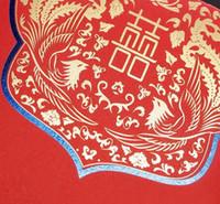 Wholesale Upscale Chinese red wedding creative Pocket size envelopes wedding supplies