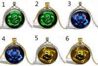 acrylic initial necklace - Fashion Hot Hogwarts Slytherin Crest Pendant Harry Potter Necklace Harry Potter Jewelry glass cabochon gift