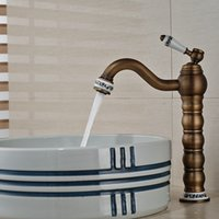 base basin mixer - And Retail Modern Antique Brass Bathroom Basin Faucet Ceramic Base Vessel Sink Mixer Tap Hot and Cold Water