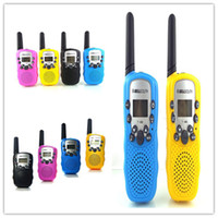 Wholesale 2015 Promotion Children s Toys Walkie talkie T388 Rechargeable Colored W UHF Auto Multi Channels Two Way Radios Interphone Dialogues Game