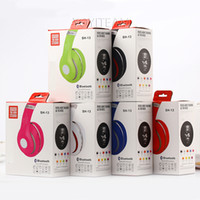 bass support - Headband Bluetooth headset SH13 strong bass pc headet neckband style support TF card with FM volume control and microphone with colors