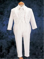Wholesale White Real Picture Three Piece Classic Handsome boy wedding suit Groom Wear Accessories Boy s Attire Groom Tuxedos Boys Formal A12