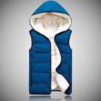 berber fleece vest - Fall men s autumn and winter clothing thickening berber fleece vest male lovers vest waistcoat down vest cotton vest