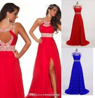 Chapel Train crystal crosses - 2015 Cheap Designer Pageant Dresses Under Crystal Beaded Criss Cross Back Red Royal Blue Formal Evening Party Dress Prom Gowns CPS012