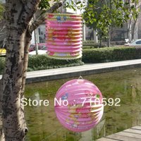 accordion paper lanterns - 2pcs Cylinder and Round Cute Paper Lanterns Accordion Lanterns Hanging Balls Pary Showers Garden Yard Decorations