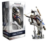 best figurines - Hot Assassins Creed action figure Assassins creed III Figurine Connor The Hunter with gift box best gift
