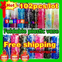 Wholesale SMILE MARKET pieces factory outlets cm random styles colors foldable plastic flower vase