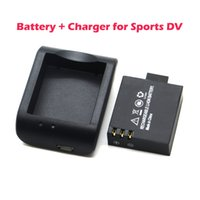 Wholesale Cradle Desktop Charger mAh V Li ion Battery for waterproof sports DV SJ4000 SJ5000 battery charger