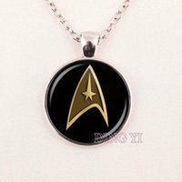 american medical sales - hot sale star trek command science medical or operations star trek pendant best friend gift Jewelry Pendant glass gemstone necklace