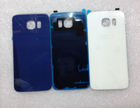 galaxy s battery - OEM International versions Glass For Samsung Galaxy S6 G920F SM G920 Battery Door Cover Housing Rear Glass Cover Adhesive S Replacement