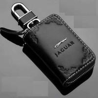 Wholesale Carve patterns leather car key case For Jaguar XF XJ XK F TYPE