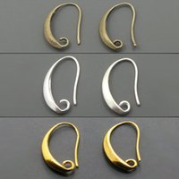 Cheap Wholesale-100pcs lot Antique Bronze Silver Gold Plated Ear Wires Hook Earring for DIY Jewelry 13*19mm