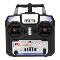 Cheap Flysky FS-i4 AFHDS 2A 2.4GHz 4CH Radio System Transmitter for RC Helicopter Glider with FS-A6 Receiver