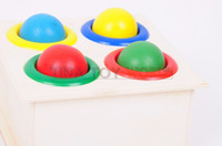 baby play tables - baby early childhood Montessori wooden teaching aids intelligence knock tables to play hammer box toy