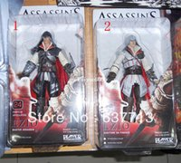 Wholesale Genuine NECA Assassin s Creed II EZIO Black White quot PVC Action Figure Toys Dolls Chritmas Gift