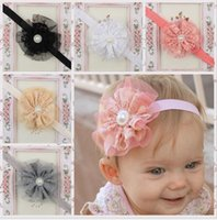 Wholesale New baby headbands flowers bows lace girls headbands lace headband girls headbands hair accessories for children kids baby girls KHA125