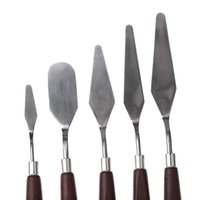 Wholesale Fashion Hot set Stainless Steel Palette Knife set Mixed Scraper Set Spatula Knives for Artist Oil Painting
