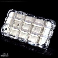 diamond ice cubes - Diamond D Soft Ice Cube TPU Gelid Square Crystal Shockproof Long Chain skin case for iphone Plus G iphone6 Stereo cover