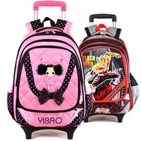 Wholesale 2014 new authentic men and children trolley bag in hand detachable backpack students special offer