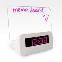 Wholesale Wooden Led Digital Alarm Clock Luminous Message Board Alarm Clock with Calendar Night Light for