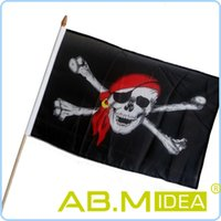 Wholesale AB M IDEA Skull Flag Waving Flags Small Pirate Flag Halloween Decorations For Bar Decorations g HW205