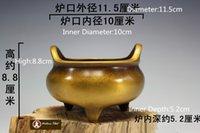 art ming - T Tibetan Buddhist Chinese Ming Emperor Xuan De Incense Burner Brass Buddha Censer cm metal carving sculpture decoration