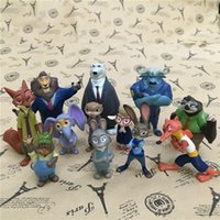 Wholesale Prettybaby Pieces Set Zootopia Action Figures Toys CM Cartoon PVC Mini Models Fox Nick Bunny Judy Flash Doll Toy Kids Gift