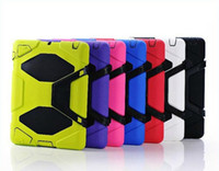 Wholesale Heavy Duty Case w Stand Military Cover with Screen Protector for Apple iPad iPad Air iPad colors