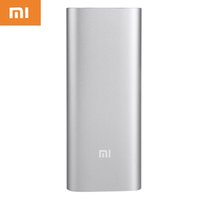 Wholesale 100 Original Xiaomi Power Bank mAh Backup External Battery Pack With Dual USB For iPhone Plus Samsung S6 Redmi Mi Pad