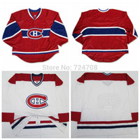 away design - Customize Montreal Canadiens jerseys goalie cut Jersey Home red Away white jersey Any Name NO own design cheap nhl hockey