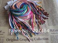 achat en gros de collier de fil tressé-100pcs d'expédition 2mm 18 '' Mixed tressé Soie Thread Cordon Satin Cord Collier Bracelet cordon chaîne SSC-001