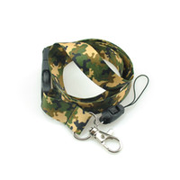army key chains - Fashion quot Army Camouflage Brown quot Key Chain Necklace Straps Polyester lanyard Mobile Lanyard ID Card Badge Holder Keys Straps Military