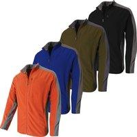 Wholesale TKA Full Zip Jacket Brand Polartec Fleece Jacket Hiking Fleece Jacket Men Outdoor Jacket Thermal Windproof Antistatic
