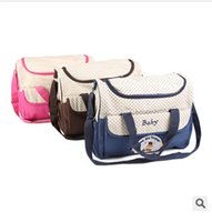 Wholesale Hot Sale Fashion Large Capacity Multifunction Diaper Bag Durable Mommy Bag Baby Bag TOP619