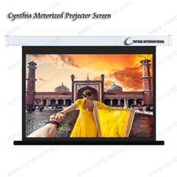 electric projection screen - Cynthia automatic matte white square white outer casing electric projection screen cheapest and best quality motorized projector screen