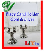 Wholesale wedding place card holders table number holder gold silver table card stand table decoration stainless cm business card standing holders