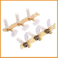 Wholesale Classical Gilding Guitar Tuning Pegs Keys Machine Heads Tuner Made of gold plate and plastic set