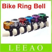 Cheap 600pcs lot # 7 Colors Metal Ring Handlebar Bell Sound for Bike Bicycle Silver Black Green Blue Red Purple Yellow Colors