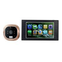 Wholesale 4 quot LCD Digital GSM Peephole Viewer HD Door Eye Doorbell Video Door Phone Color IR Camera F4289A