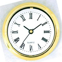 Wholesale DIY insert clock head mm clock parts gold border roma number for carft clock