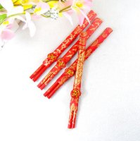 Wholesale 40PAIRS Wedding Favor Gift China Chopsticks Bamboo Wood Chopsticks Dragon Phoenix Double happiness Hot Sale